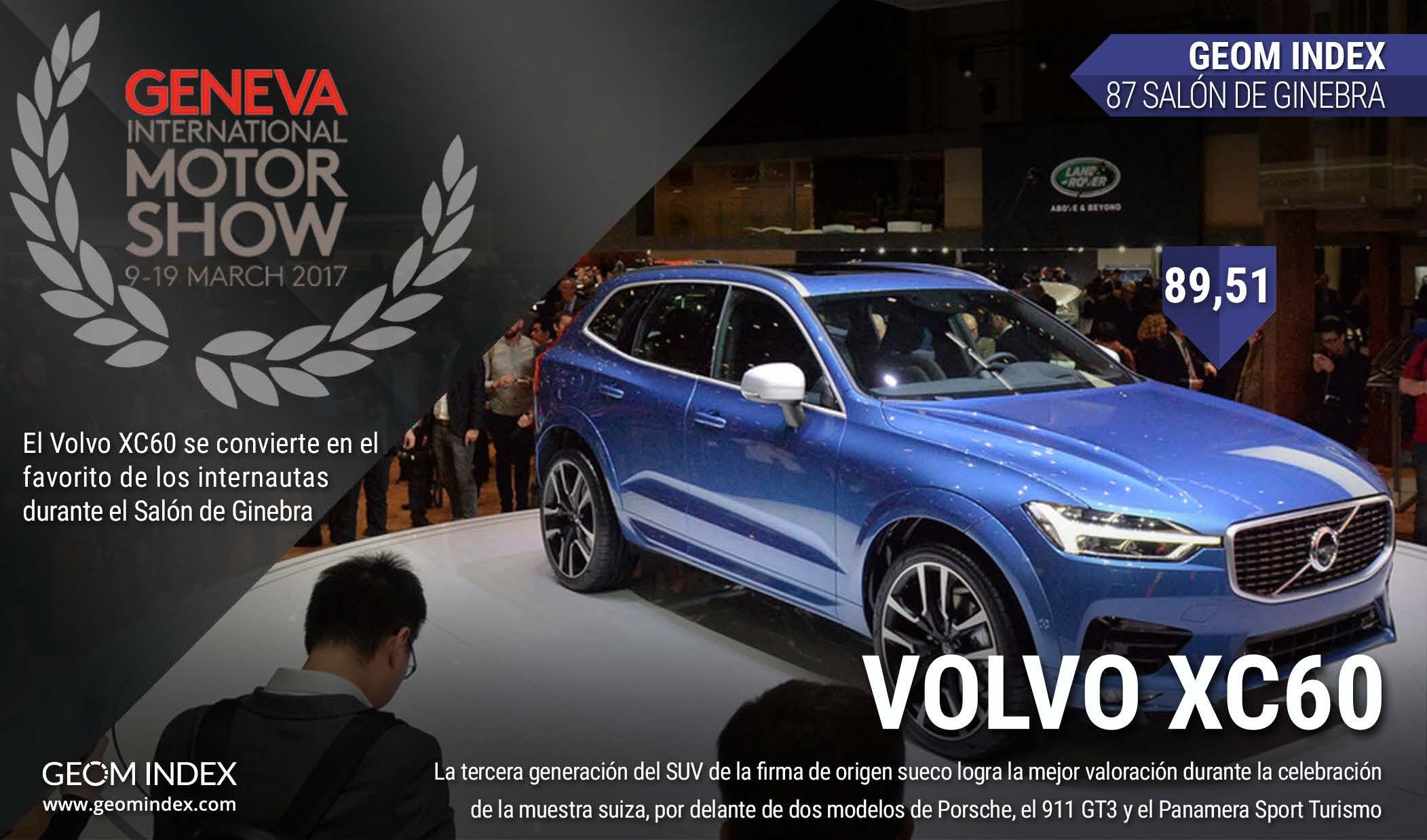 El Volvo XC60, el favorito del Salón de Ginebra 2017