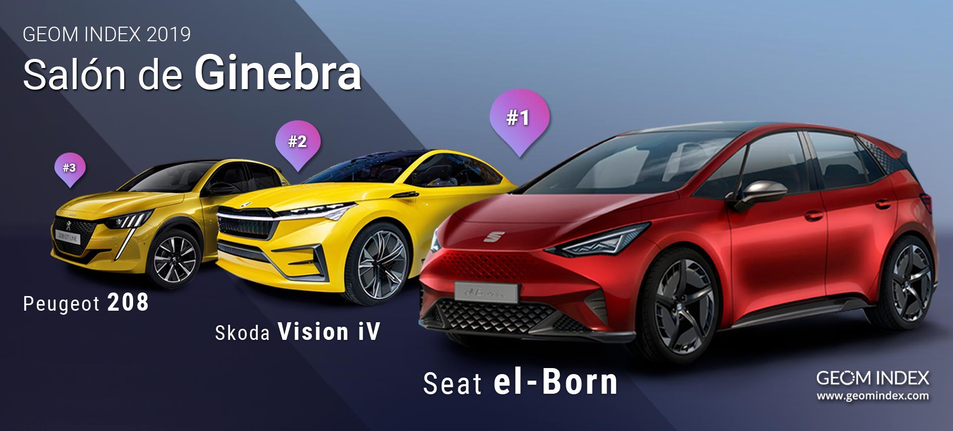 Seat el-Born, el Skoda Vision iV y el Peugeot 208, las estrellas en la red del Salón de Ginebra