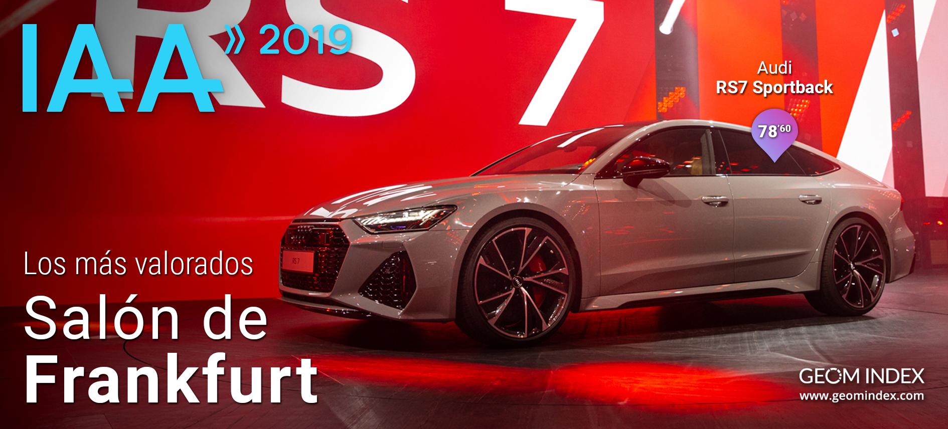 Audi RS7 Sportback, Porsche Taycan y Cupra Tavascan, las novedades más valoradas del Salón de Frankfurt