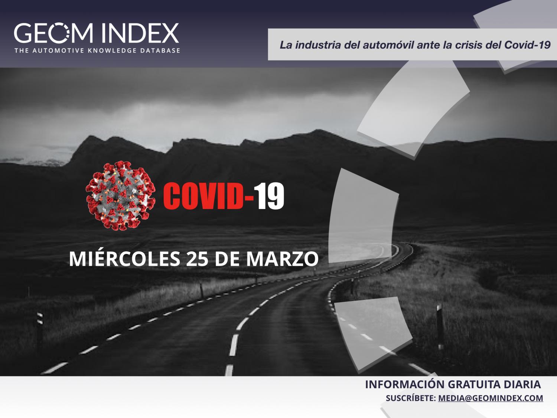 La industria del automóvil ante la crisis del Covid-19: Informe miércoles 25/03/2020