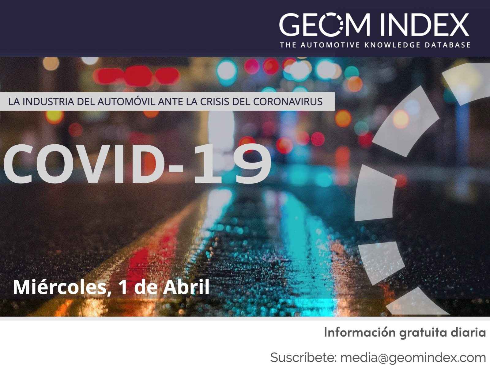 Informe 1/04/2020 – La industria del automóvil ante la crisis del Covid-19
