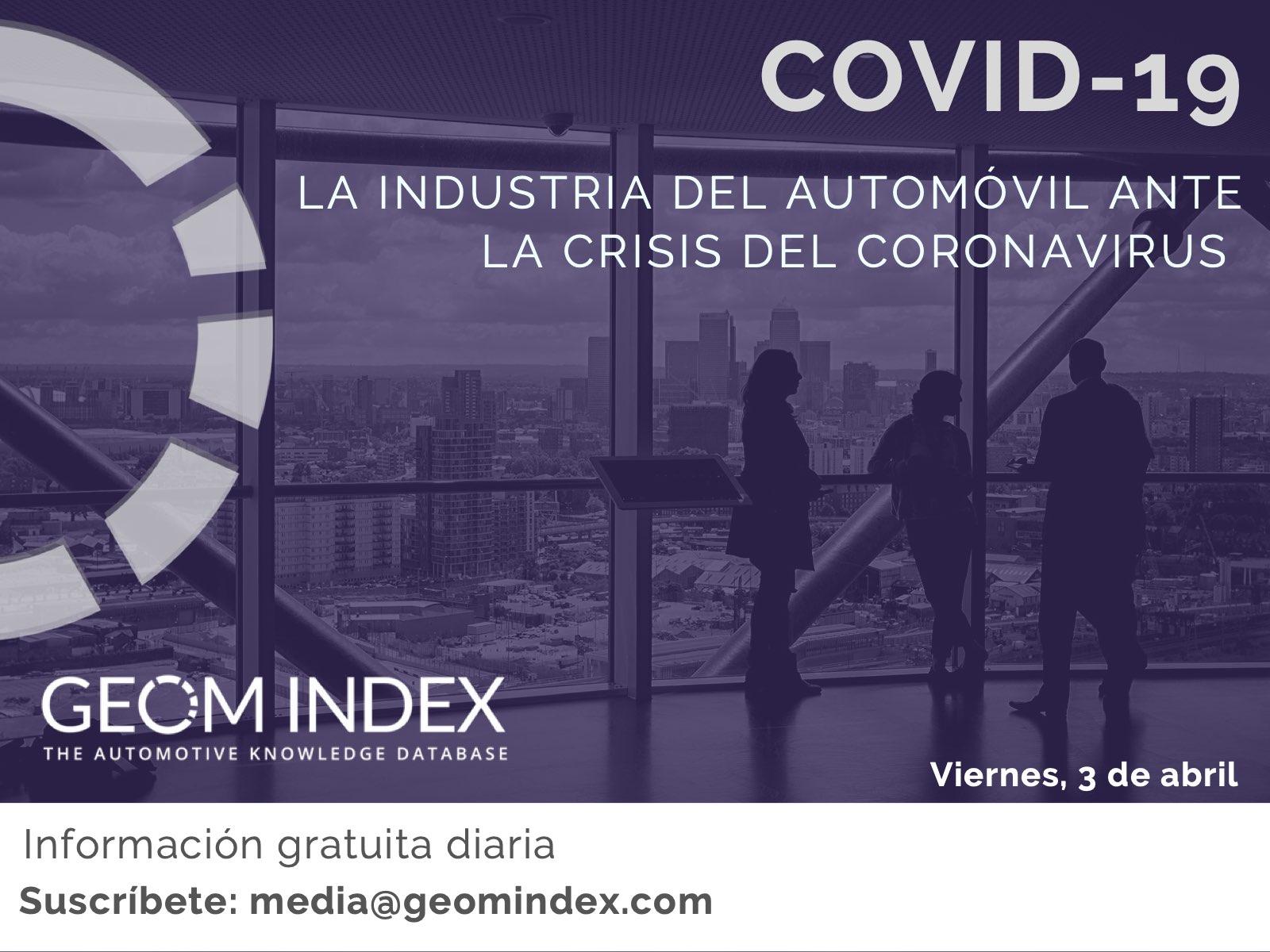 Informe 3/04/2020 – La industria del automóvil ante la crisis del Covid-19