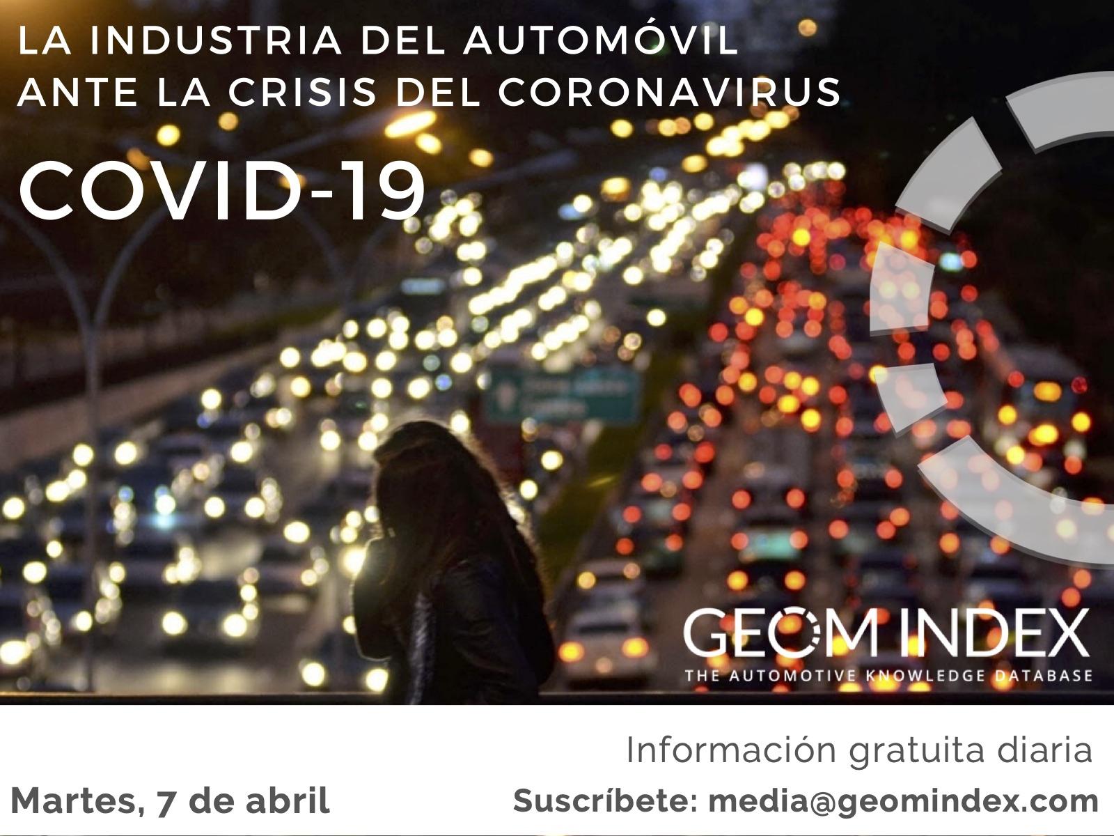 Informe 7 de abril – La industria del automóvil ante la crisis del Covid-19