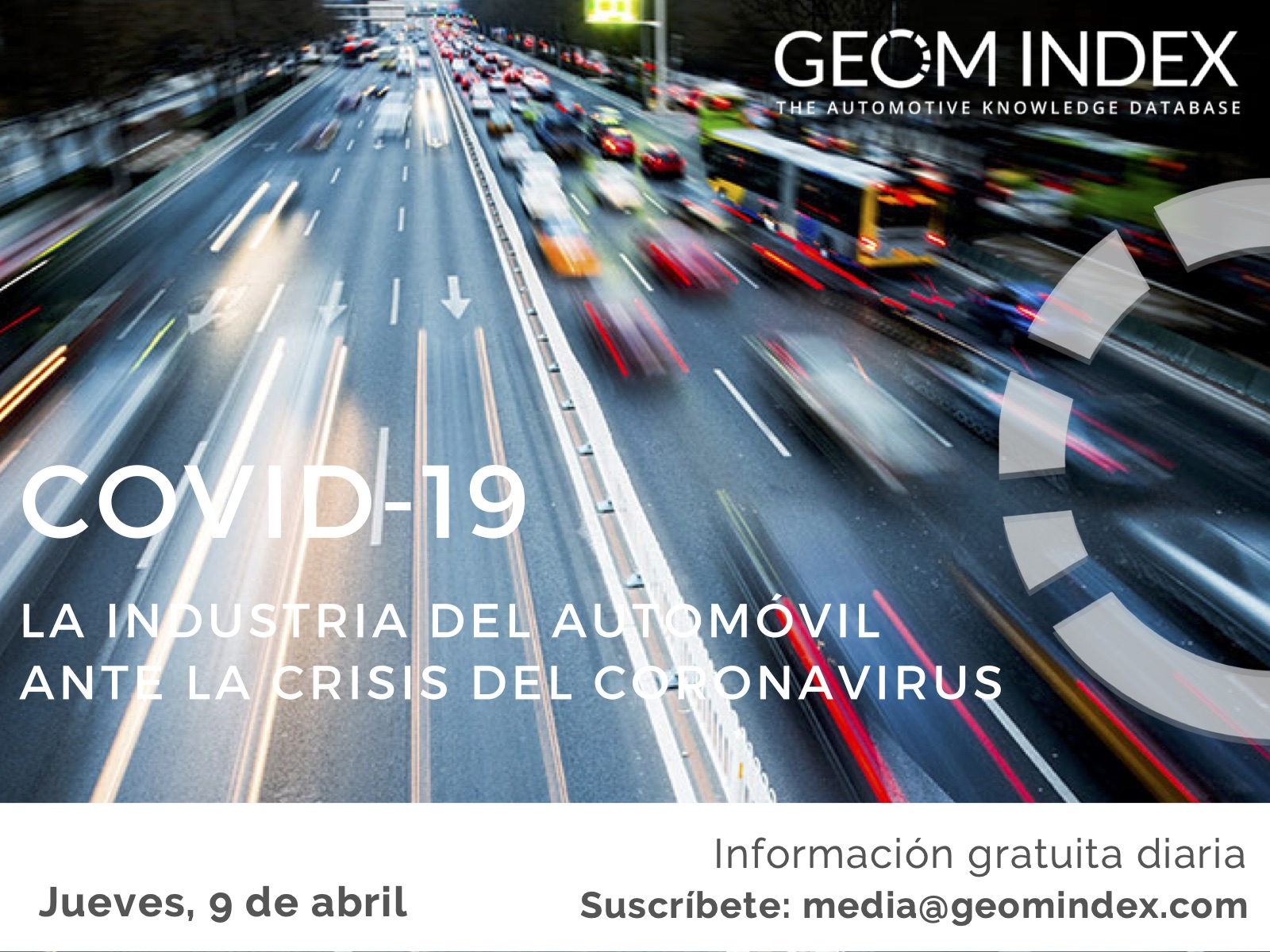 Informe 9 de abril – La industria del automóvil ante la crisis del Covid-19