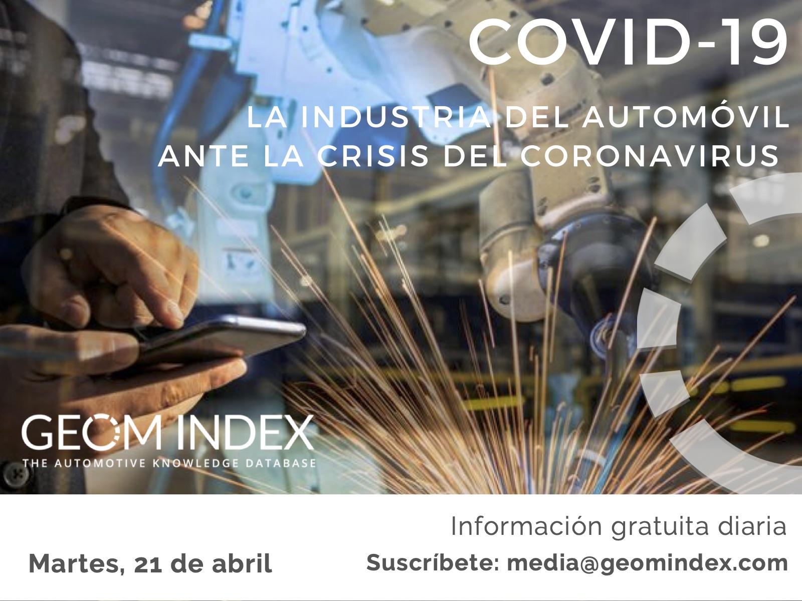 Informe 21 de abril – La industria del automóvil ante la crisis del Covid-19