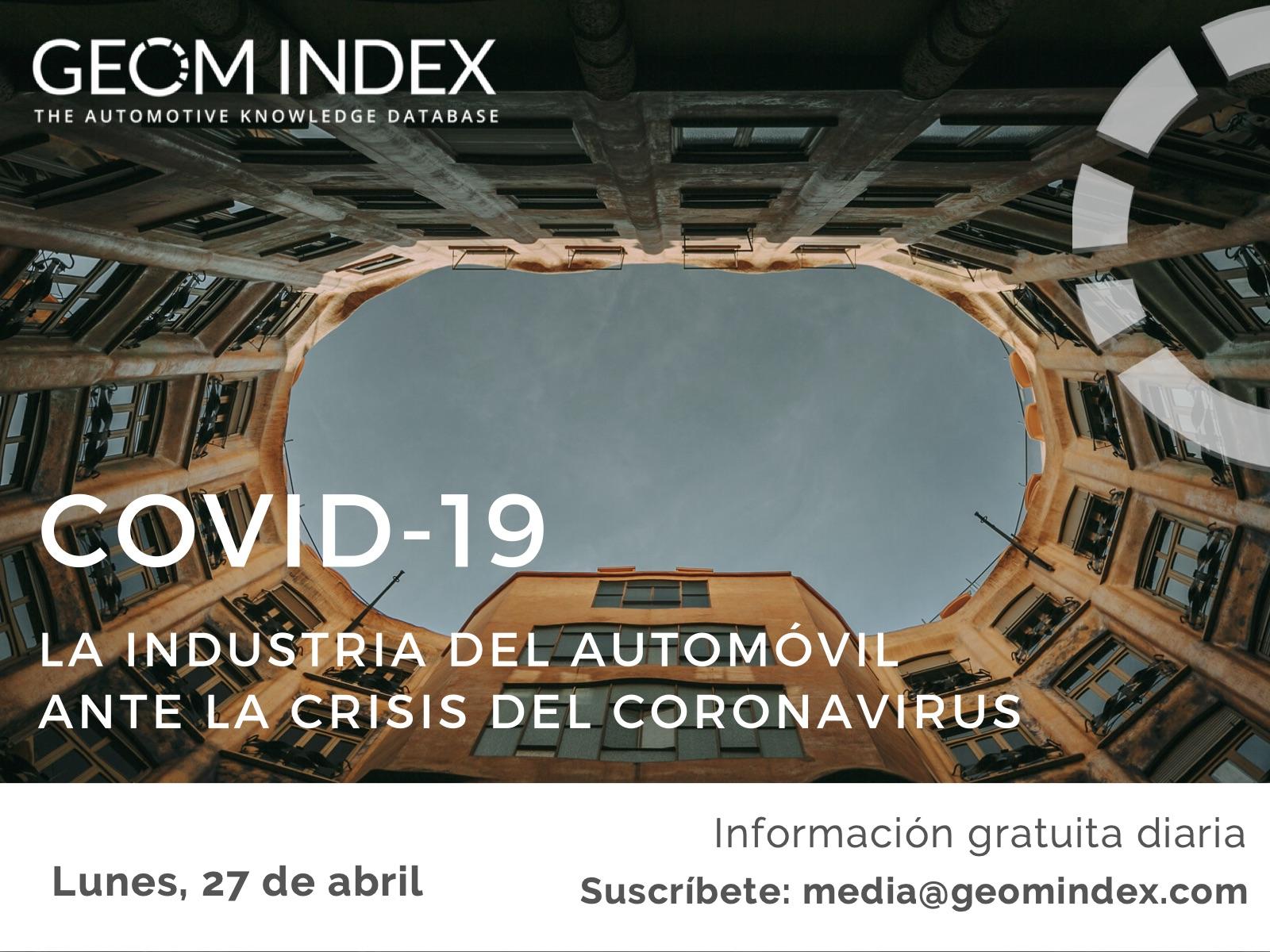 Informe 27 de abril – La industria del automóvil ante la crisis del Covid-19