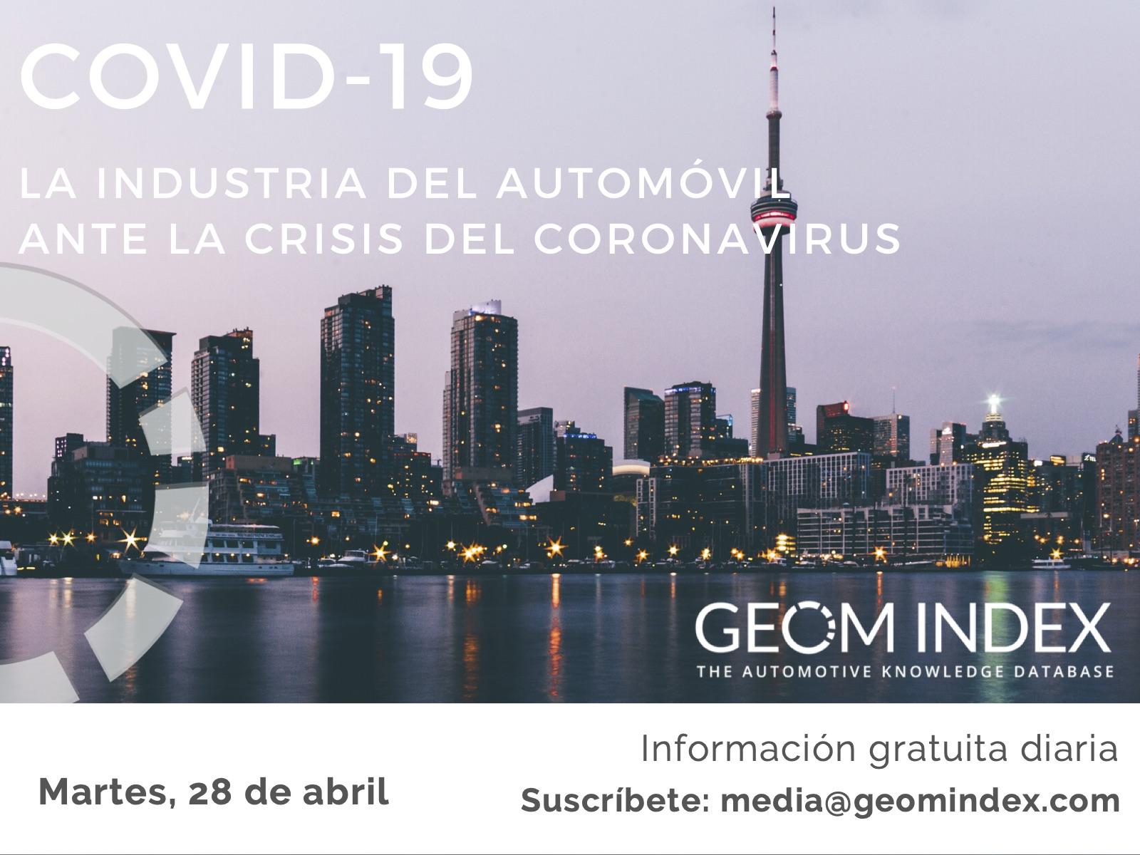 Informe 28 de abril – La industria del automóvil ante la crisis del Covid-19