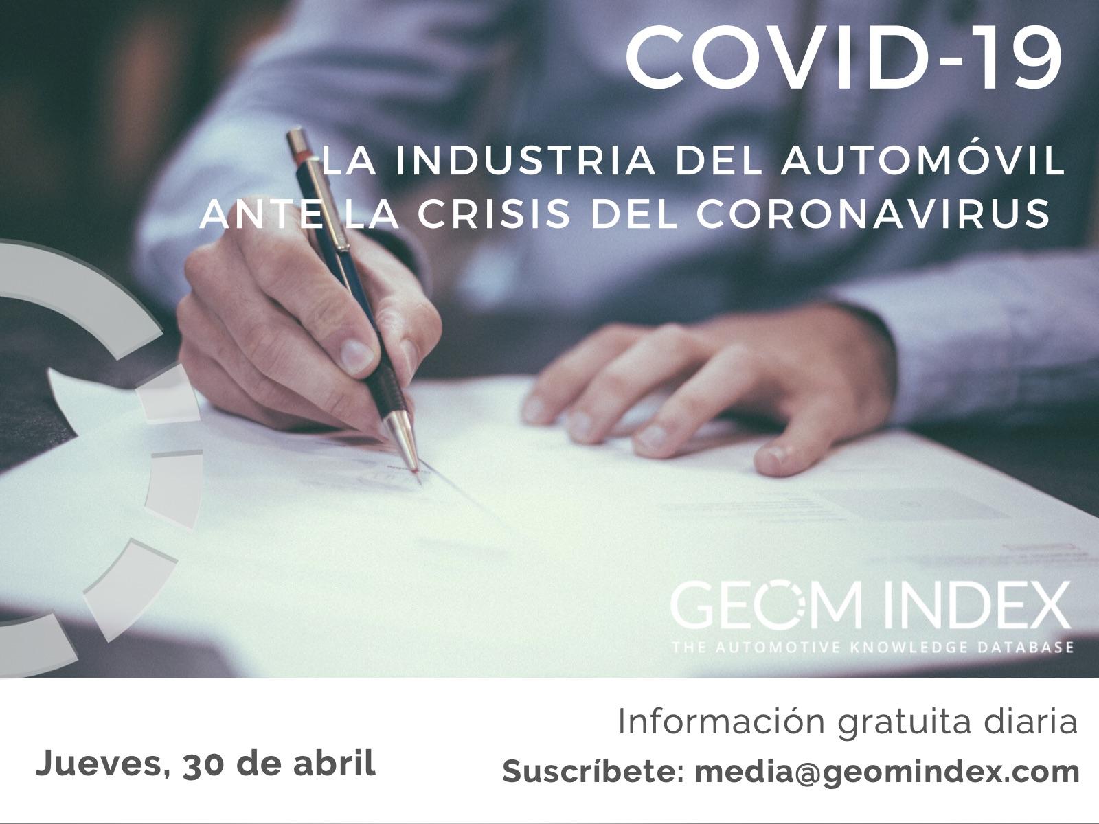 Informe 30 de abril – La industria del automóvil ante la crisis del Covid-19