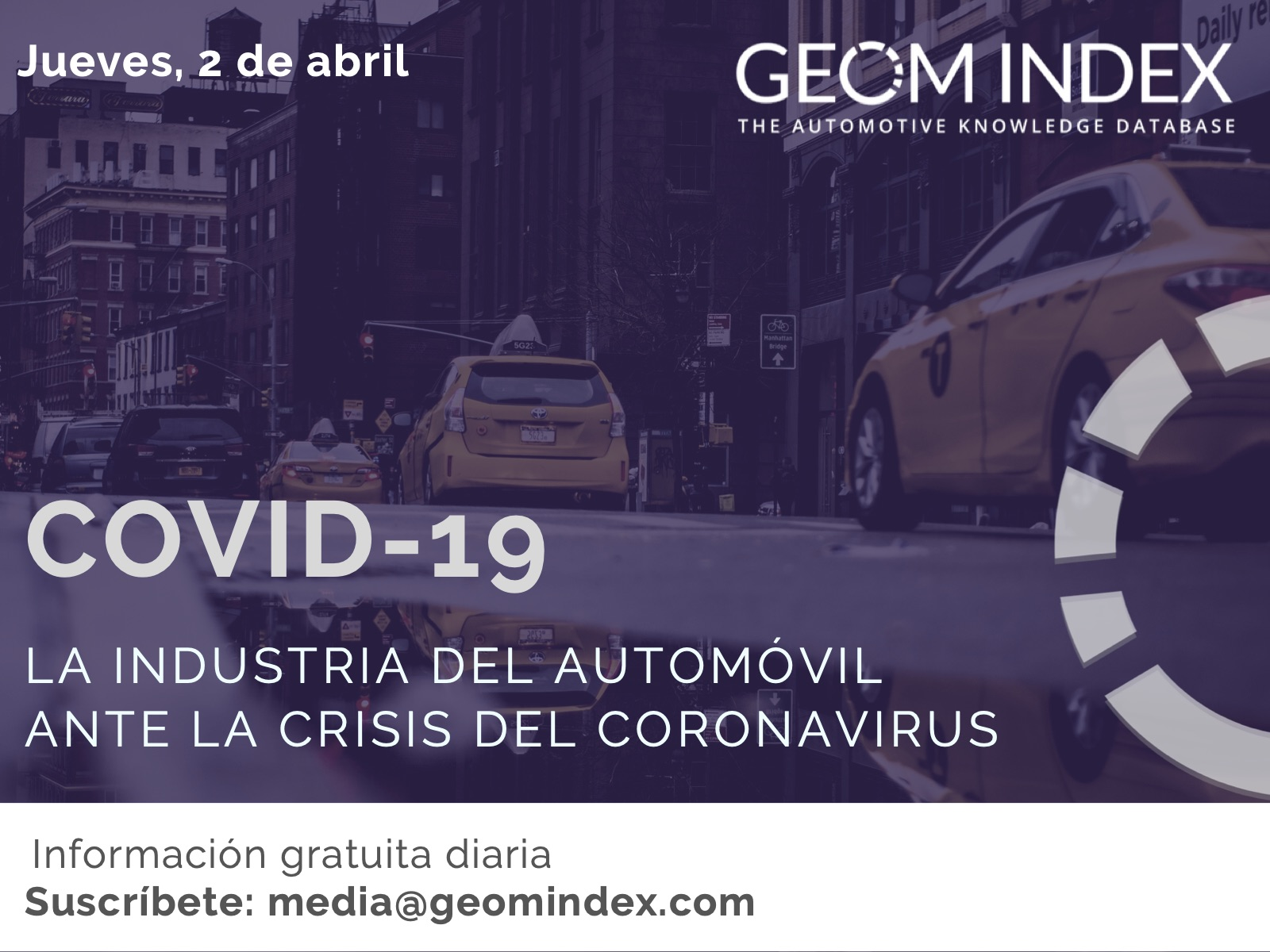 Informe 2/04/2020 – La industria del automóvil ante la crisis del Covid-19