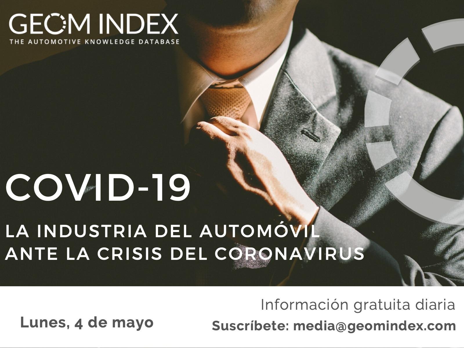 Informe 4 de mayo – La industria del automóvil ante la crisis de la covid-19