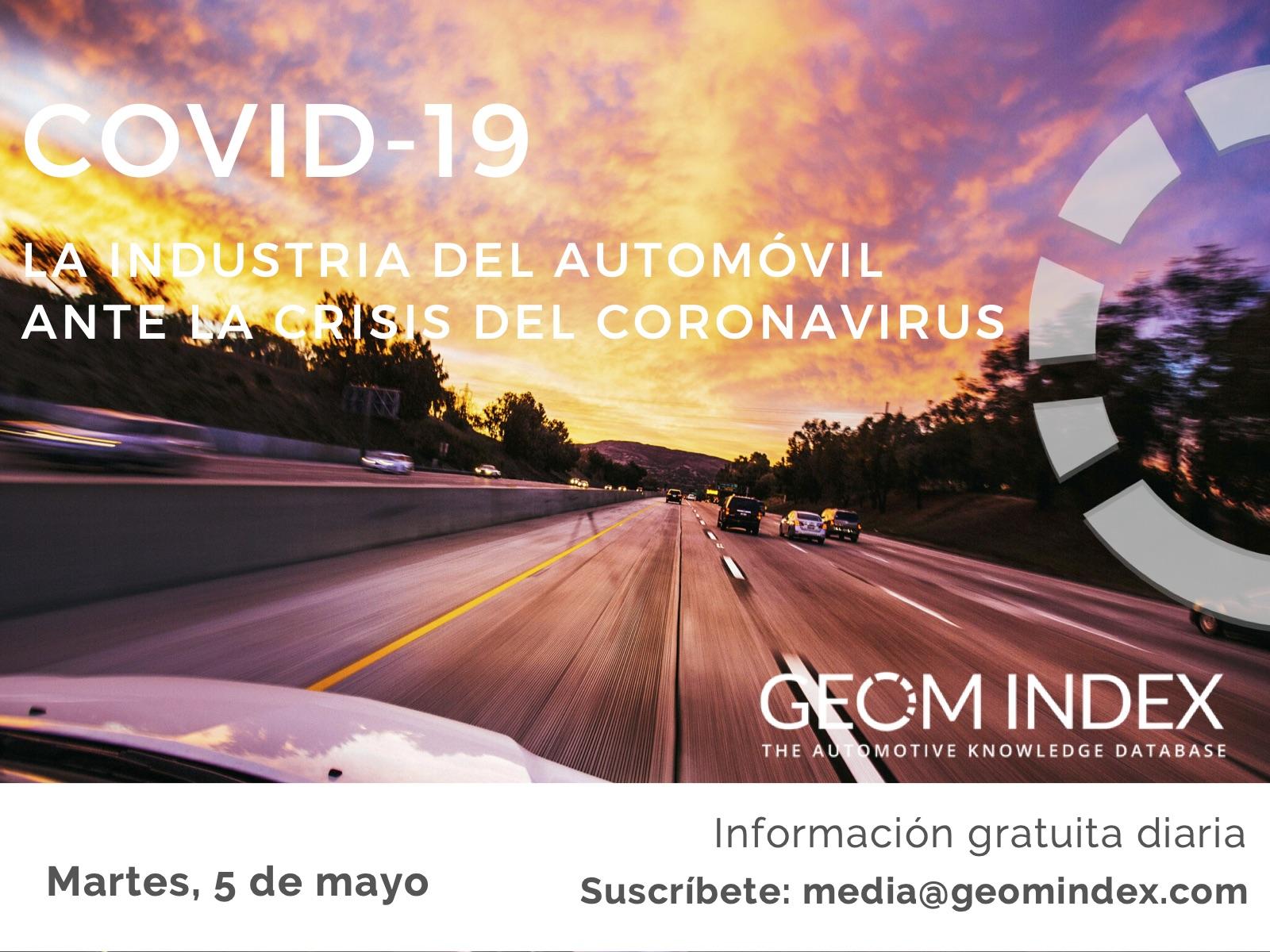 Informe 5 de mayo – La industria del automóvil ante la crisis de la covid-19