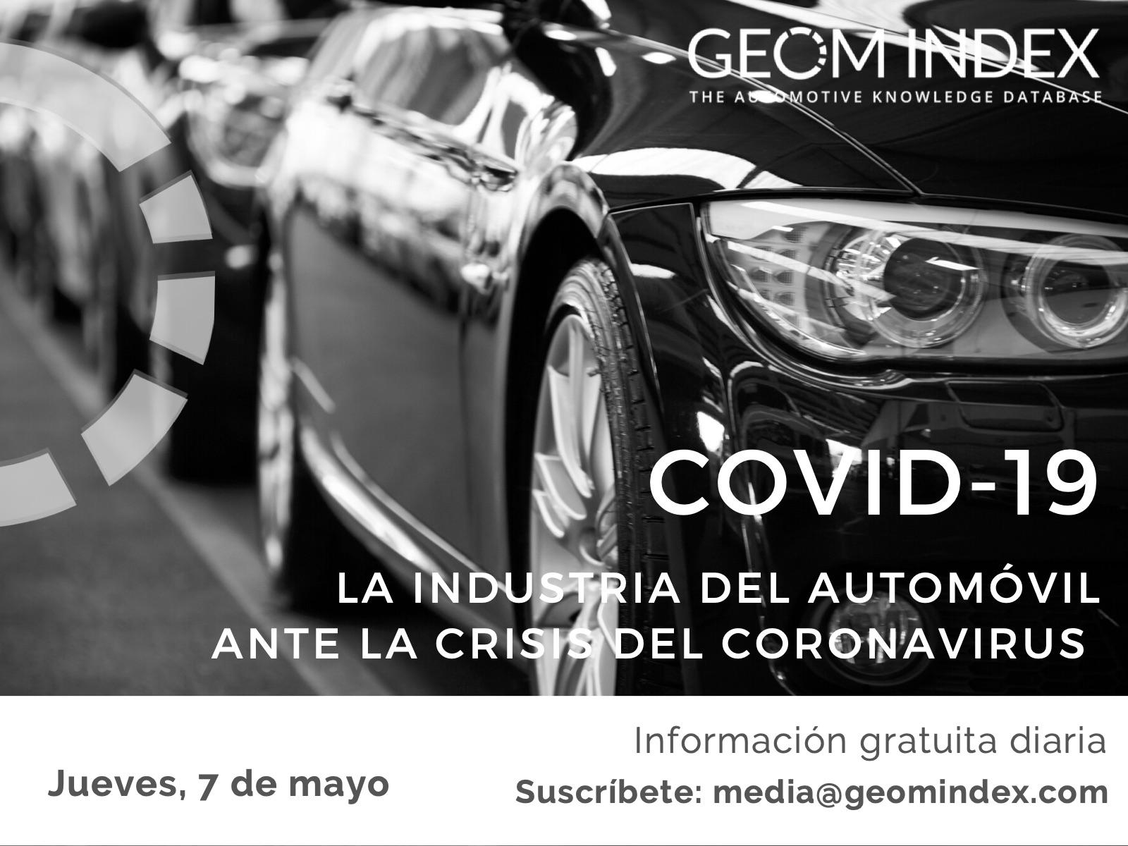 Informe 7 de mayo – La industria del automóvil ante la crisis de la covid-19