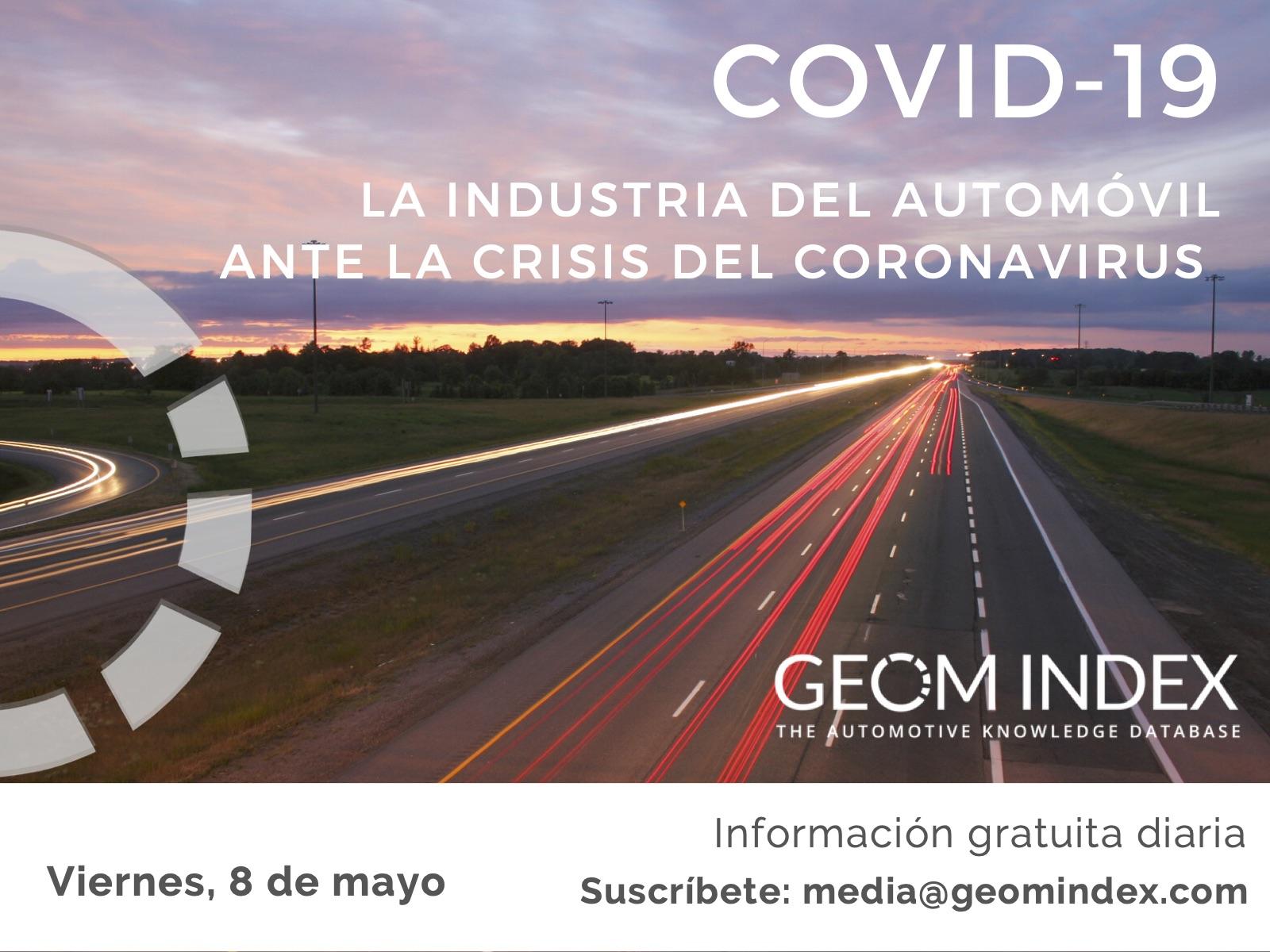 Informe 8 de mayo – La industria del automóvil ante la crisis de la covid-19