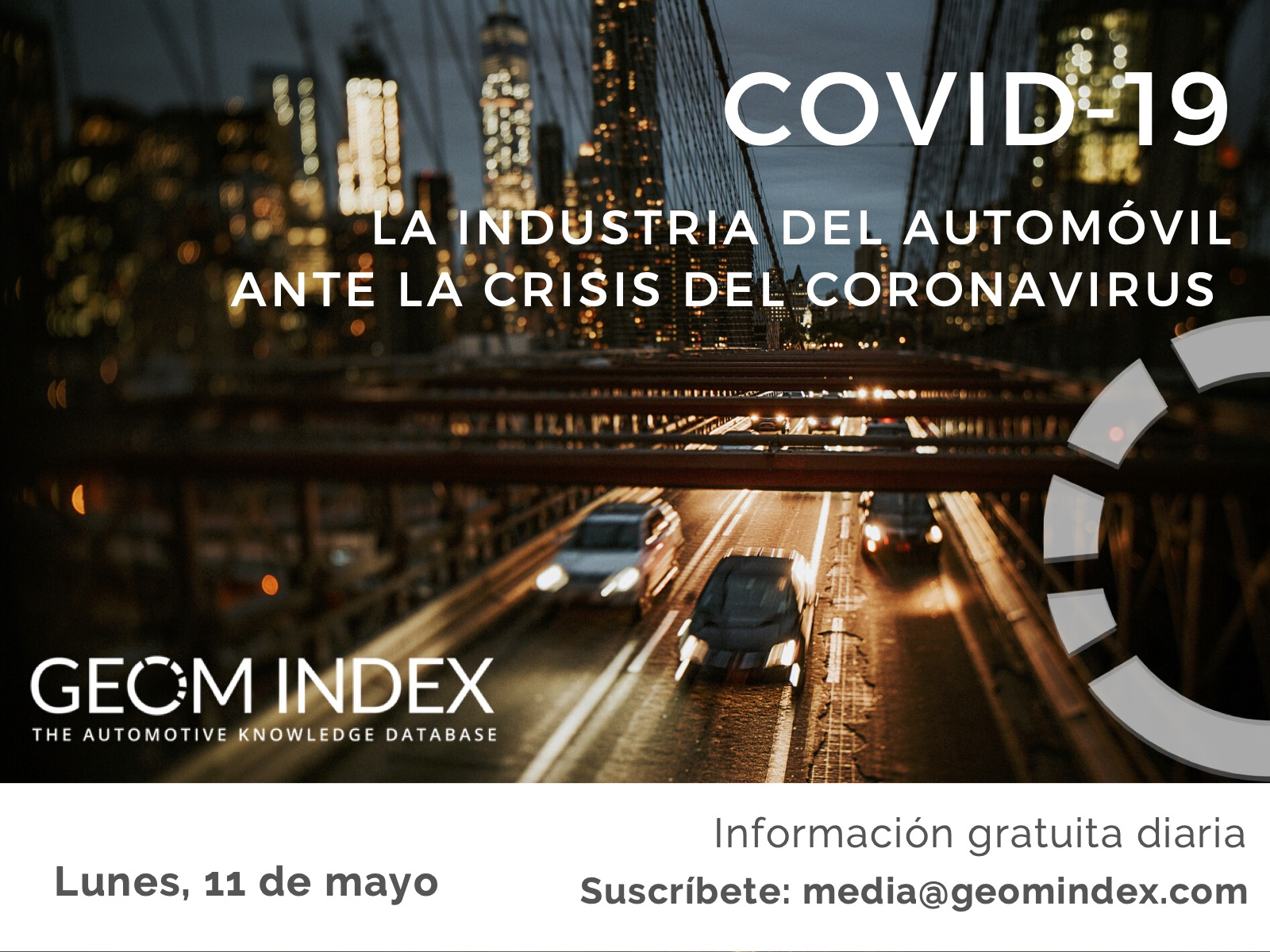 Informe 11 de mayo – La industria del automóvil ante la crisis de la covid-19